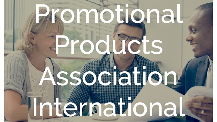 An image showing of people Discussing as a background with the word Promotional Products Association International