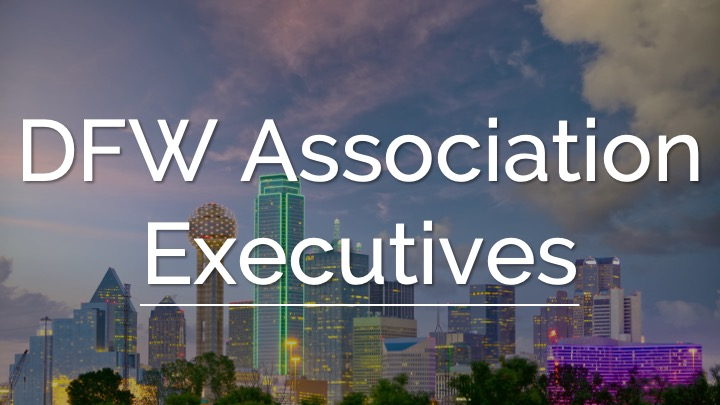 An image showing a Building as a background with the word DFW Association Executives