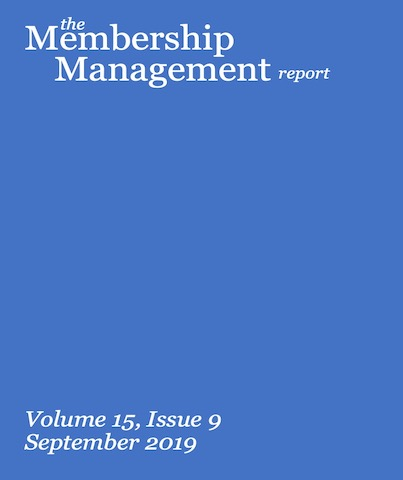 an image of the membership management report book volume 15 issue 9