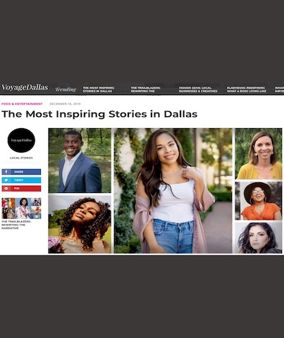 an image of a page in voyage dallas about most inspiring stories in Dallas