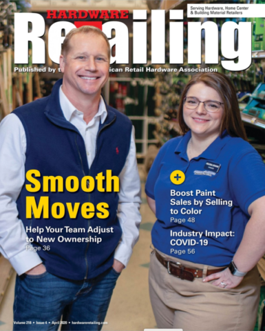 An image of a Hardware Retailing Magzine's cover with Man and Woman.